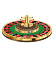 casino roulette with ball on a white background vector image