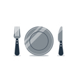 Catering logo knife and fork items vector image vector image