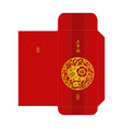 chinese new year 2019 red envelope template vector image vector image