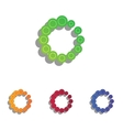 Circular loading sign Colorfull applique icons vector image