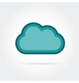 cloud icon isolated on white background vector image vector image