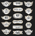 Collection silver shields badges and labels