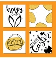 Colorful collection of printable card for Easter vector image vector image