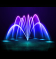 colorful fountain realistic image vector image vector image