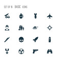 combat icons set collection of dangerous vector image vector image