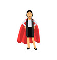 confident business lady standing with arms akimbo vector image