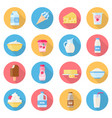 dairy products flat style set vector image