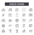 disco line icons signs set outline vector image