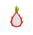 dragon fruit icon flat style vector image vector image