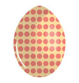 Egg painted dotted happy easter