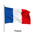 flag french republic vector image vector image
