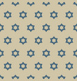 geometric ornamental seamless pattern with stars vector image