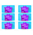 gift card with a gift box in a flat style vector image vector image