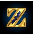 golden letter z vector image