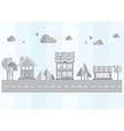gray city on a blue background vector image