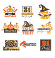 halloween night holiday celebration 31 of vector image vector image