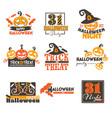 halloween night holiday celebration 31 vector image