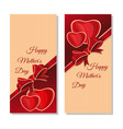 happy mothers day holiday banners set vector image
