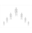 Human body in molecular vector image vector image