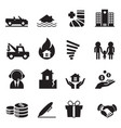 insurance icons symbol set 2 vector image