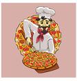 Italian cook vector image vector image
