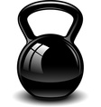 Kettle bell vector image vector image