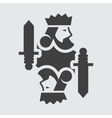 King card icon vector image