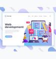 landing page template web development concept vector image vector image