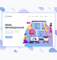 landing page template web development concept with vector image vector image