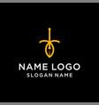 letter i leaf logo vector image vector image