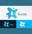 logo water liquid vector image vector image
