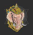 lord ganesha hindu god artwork vector image vector image