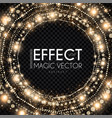 magic light bokeh and fog circle effect abstract vector image vector image
