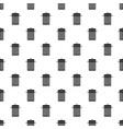 metal trash can pattern vector image vector image
