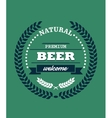 Natural Premium Beer label vector image vector image