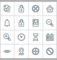 network icons set collection of hourglass bell vector image vector image