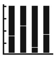 new chart icon simple vector image