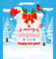 old christmas parchment scroll with santa hat vector image