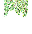 palm leaves frame watercolor hand painting vector image vector image