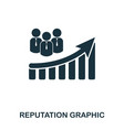 reputation increase graphic icon mobile apps vector image