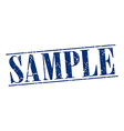 sample blue grunge vintage stamp isolated on white vector image vector image