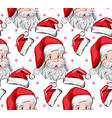 santa claus pattern holiday eve background vector image