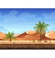 seamless background - palm trees in desert vector image vector image