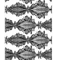 seamless pattern Fox Doodle Symbol vector image