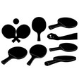 set of different ping pong rackets vector image