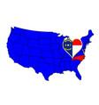 state of north carolina vector image vector image