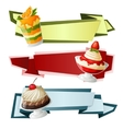 Sweets paper banners vector image