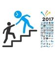 Time Manager Help Icon With 2017 Year Bonus vector image vector image
