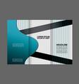 tri fold brochure design corporate leaflet vector image