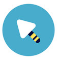 trowel icon on round blue background vector image